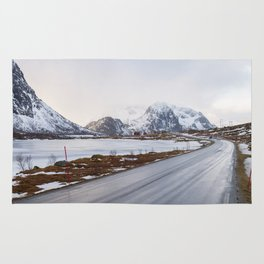 The road in the mountains Rug