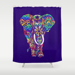 Not a circus elephant #violet by #Bizzartino Shower Curtain