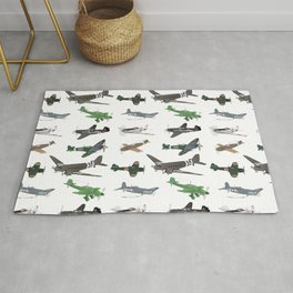 Multiple WW2 Airplanes Rug