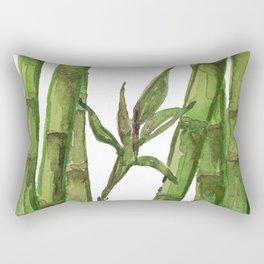Bamboo Watercolor - Green Palette Art Print Rectangular Pillow