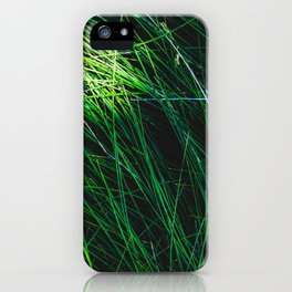 green grass field texture abstract background iPhone Case