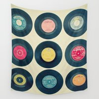 vinyl Wall Tapestries featuring Vinyl Collection by Cassia Beck