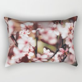 Blooming Blossom Detail Rectangular Pillow