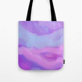 Modern abstract teal magenta violet watercolor pattern Tote Bag
