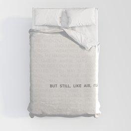 Maya Angelou Still I Rise Minimalist Print Duvet Cover