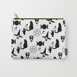Creepy Cute Halloween Apparel Design, Witches and Cats Carry-All Pouch