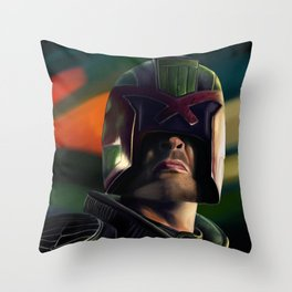 Judge Dredd Throw Pillow
