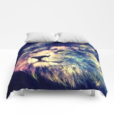 Galaxy Lion : Deep Pastels Comforters