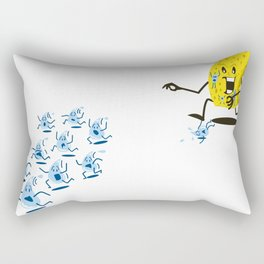 Sponge Attack! Rectangular Pillow
