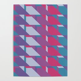 Abstract Drama #society6 #violet #pattern Poster