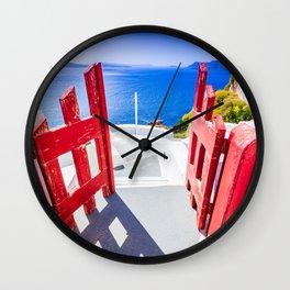 Oia, Santorini, Greece Wall Clock