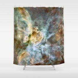 Space nebula Shower Curtain