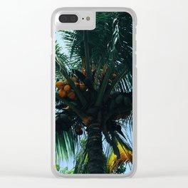 Palmeras II Clear iPhone Case