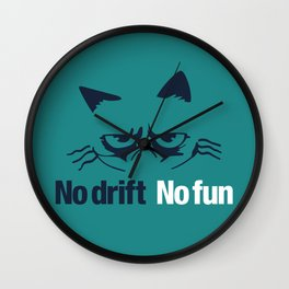 No drift No fun v2 HQvector Wall Clock
