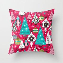 Deck The Halls - Pink Throw Pillow
