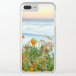 Pacific Poppies Clear iPhone Case