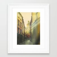 stockholm Framed Art Prints featuring Stockholm by Viviana Gonzalez