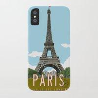 travel poster iPhone & iPod Cases featuring Paris 2 Travel Poster by Michael Jon Watt