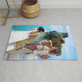Lawrence Alma-Tadema - A Coign Of Vantage - Digital Remastered Edition Rug