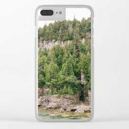 Green and Rocks Clear iPhone Case