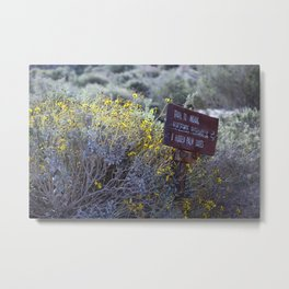 Sign Marking Trails At ... Wildlife Preserve Metal Print