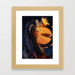 King Framed Art Print