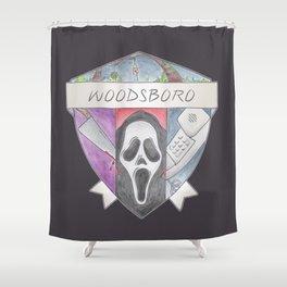 Woodsboro Crest Shower Curtain