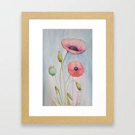 Sheila's Poppies Framed Art Print