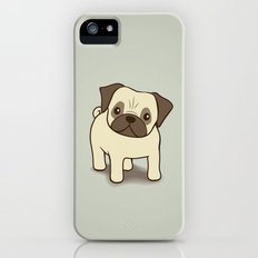Pug Puppy Illustration Slim Case iPhone (5, 5s)