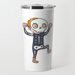 Parody skull mask Travel Mug