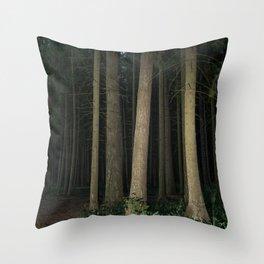 The Slender Man Throw Pillow