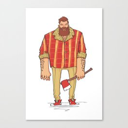 The Woodchop Canvas Print