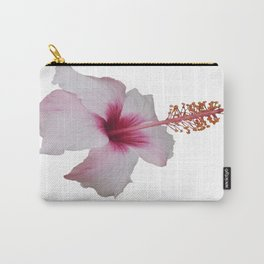 Pale Pink Hibiscus Tropical Flower No Text Carry-All Pouch