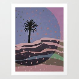 Autumnal Air around the Palm Tree Art Print
