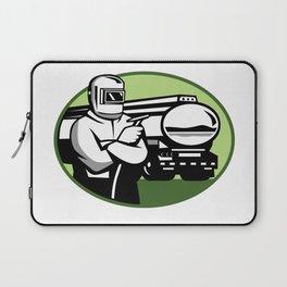 Tig Welder Tanker Truck Oval Laptop Sleeve