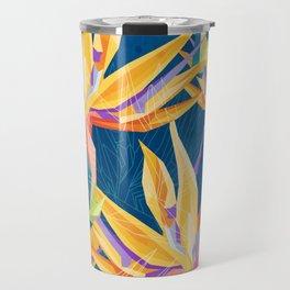 Strelitzia Pattern Travel Mug