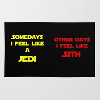 sith Area & Throw Rugs featuring Feel Like Sith by Rachcox