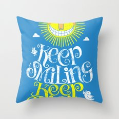 SMILE & SHINE Throw Pillow