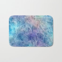 Colorful Cool Tones Blue Purple Abstract Bath Mat