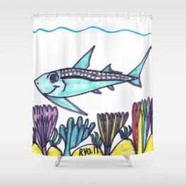 Key West Tarpon Shower Curtain