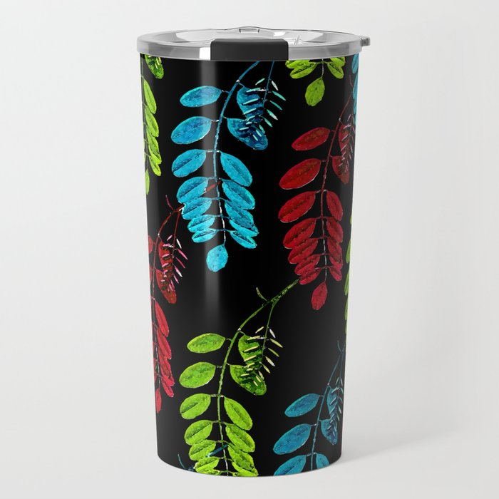 Red, Green and Blue Black Locust Travel Mug