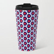 Red & Blue Pattern Travel Mug