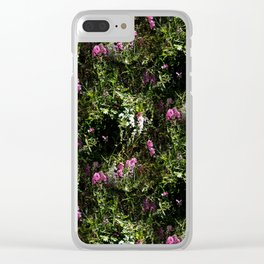 In the mountains where the Sweet Peas grow... Clear iPhone Case