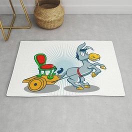 Donkey with cart Rug