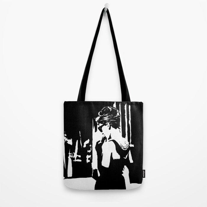 3d88d11e82 Audrey Hepburn in movie Breakfast at Tiffany's. Black and white portrait,  monochrome stencil art