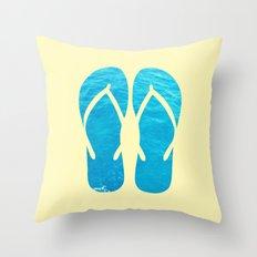FLIP FLOP SUMMER Throw Pillow