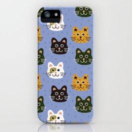 Cat Pattern iPhone Case