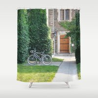 once upon a  time Shower Curtains featuring Once Upon a Time by Yang Z.