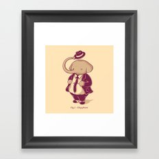 Eleg-phant Framed Art Print