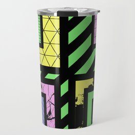 Pastel Corners (Abstract, geometric, textured designs) Travel Mug